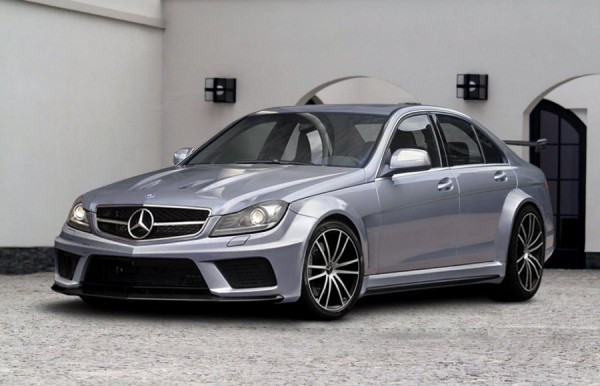 mercedes c klasse w204 amg black series sedan body kit. Black Bedroom Furniture Sets. Home Design Ideas