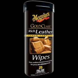 Meguiars Gold Class Rich Leather Wipes - ubrousky 25ks