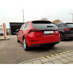 Škoda Scala - atrapy výfuku RS design -  RS230 BLACK - GLOWING RED